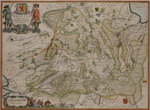 Kaart Drenthe 1934